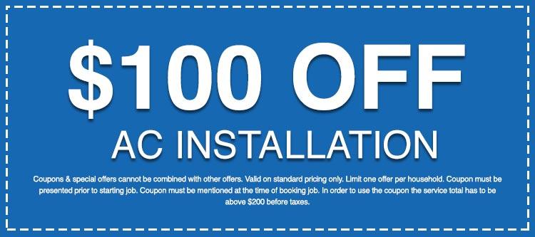 Discounts on AC Installation